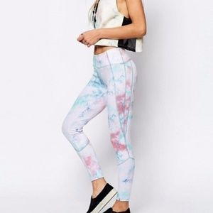 Free People Road Runner Leggings in Tie Dye Cloud